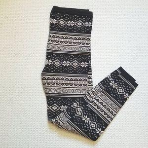Forever 21 patterned winter leggings size 1X